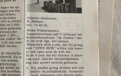 """""""Open naar de wijk toe"""" in 1977"""