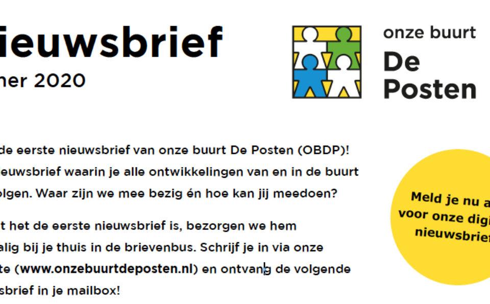 Eerste nieuwsbrief OBDP